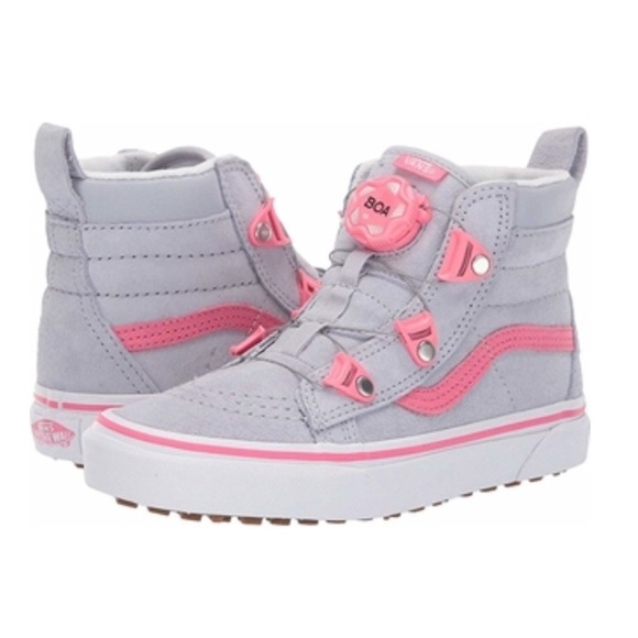 49c23049a5e9a Vans Shoes | Nwt Sk8hi Mte Boa Gray Dawn Y 4 | Poshmark
